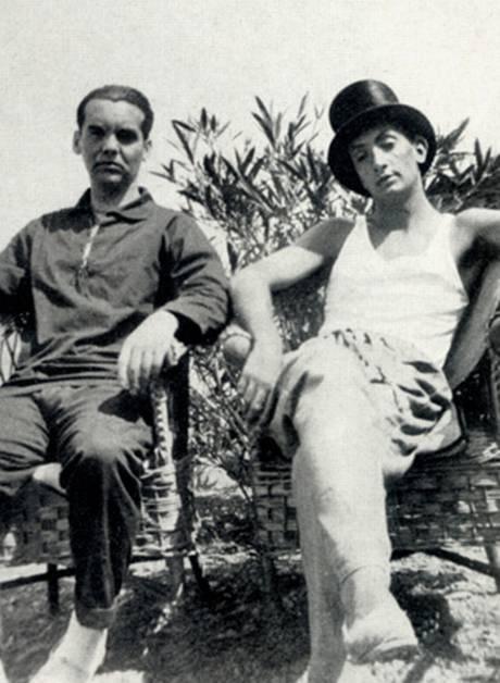Federico Garcia Lorca (left) with Salvador Dali