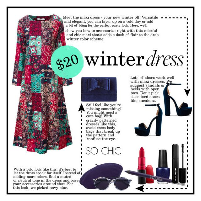 """Winter Maxi**Bold&Bright"" by istanbul-was-constantinople ❤ liked on Polyvore featuring Steve Madden, kangol, Thierry Lasry, INC International Concepts, MAC Cosmetics, OPI, Urban Decay, Marc Jacobs, under100 and wintermaxi"