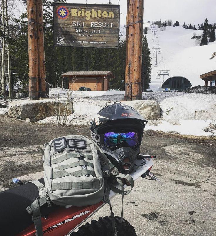 Brighton Ski Resort, a Sunday Ride   Bandit Hydration Pack by 3V Gear