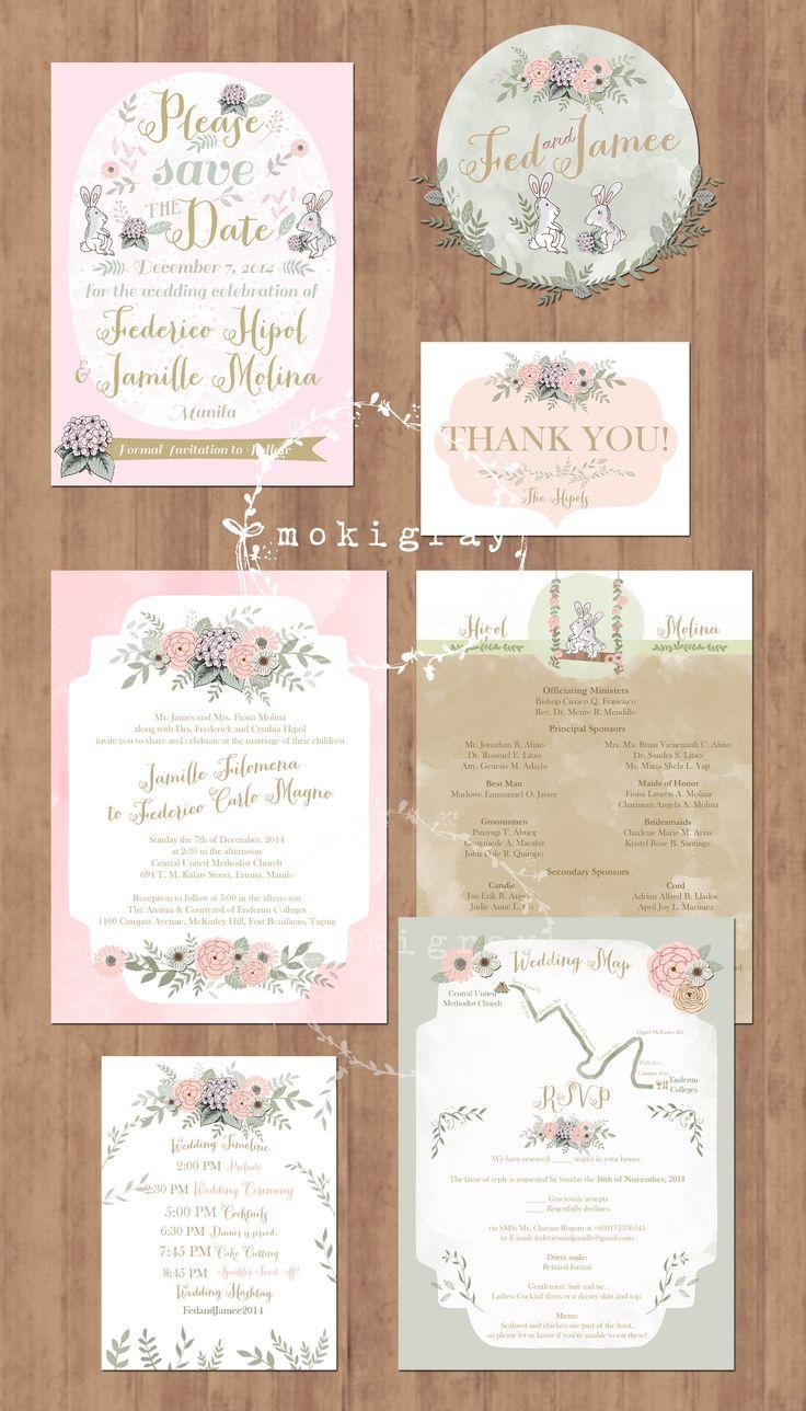 25 Best Moki Gray S Wedding Invitation Suites Images On Pinterest