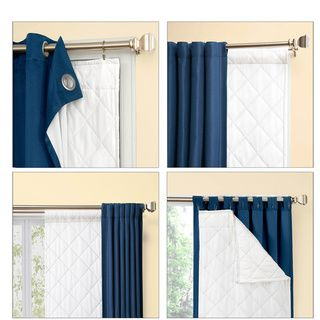Season Smart Thinsulate Insulating Curtain Liner Pair