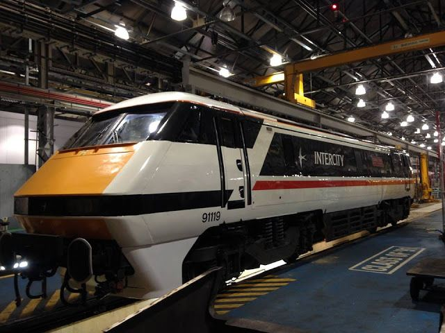 91119 repainted into original swallow intercity livery and an appeal for photographs railway trains in 2020 repainting train railway pinterest