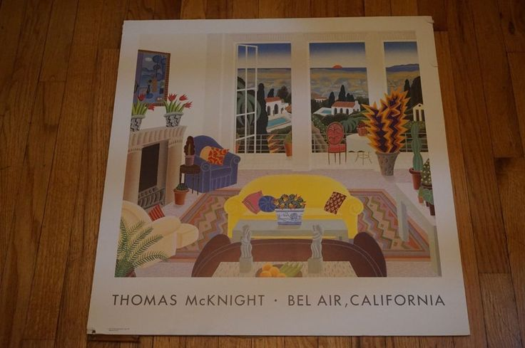 This is a wonderful print by Thomas McKnight. It is titled Bel Air and it is dry mounted to a farming foam board. There is a couple tears in the border but nothing too major and professionally framed you would never see them. | eBay!