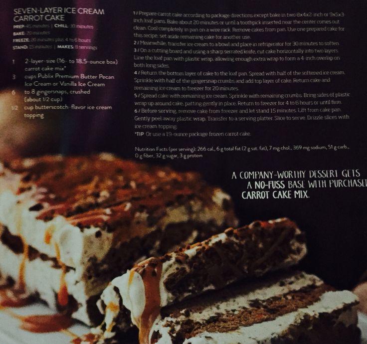 Ice Cream Cake. Publix FamilyStyle