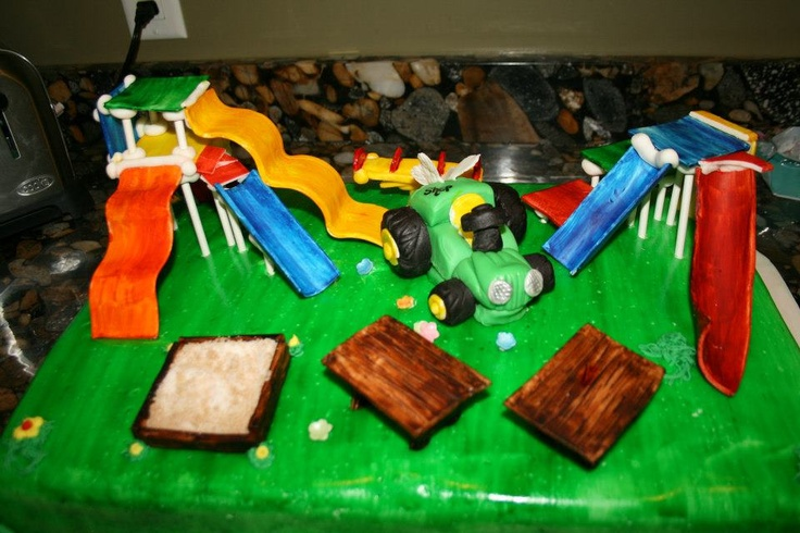 Playground Themed Cake First Birthday Cakes Pinterest