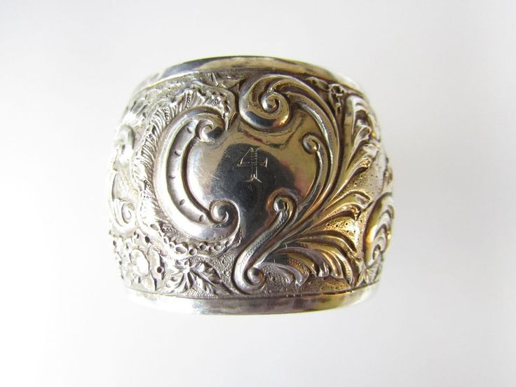 Solid SCOTTISH Silver Napkin Ring Glasgow by George Edward & Sons 1892 36 grams