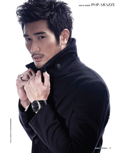 Godfrey Gao. Gorgeous, he is also the first Asian male to model for the fashion brand Louis Vuitton.
