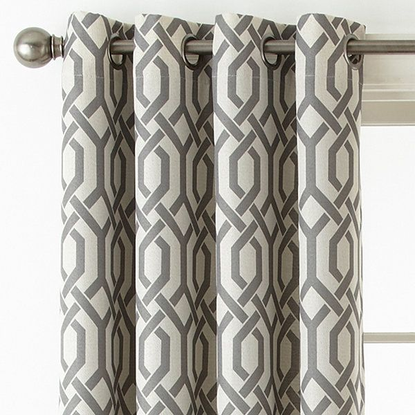 Home Expressions Pasadena Print Blackout Grommet Top Curtain Panel