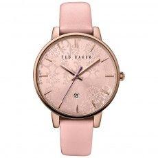 Ladies Ted Baker Katie Damask Pink Strap Watch