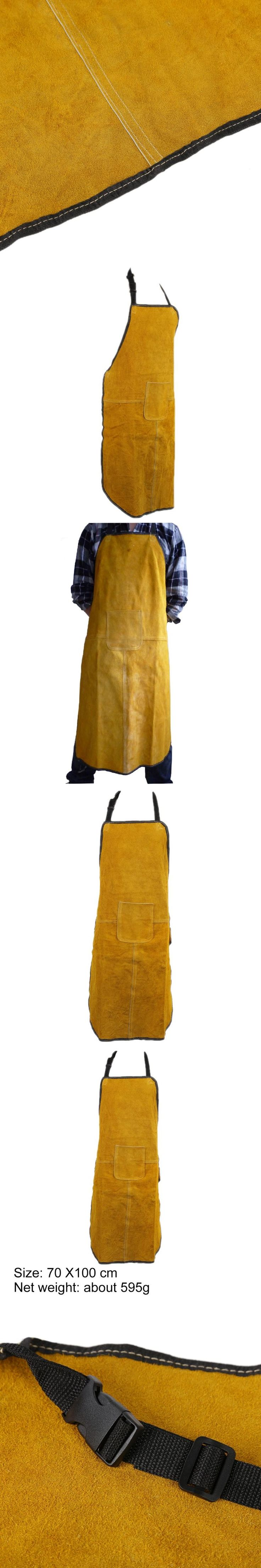 Special Protection Workwear Clothe Argon-arc Welding Leather Apron Workplace Safety Clothing Self Protect Aprons