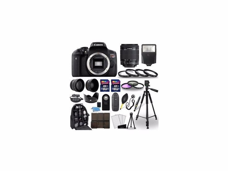 Canon EOS Rebel T6i SLR Camera + 18-55mm STM Lens + 30 Piece Accessory Bundle #Canon