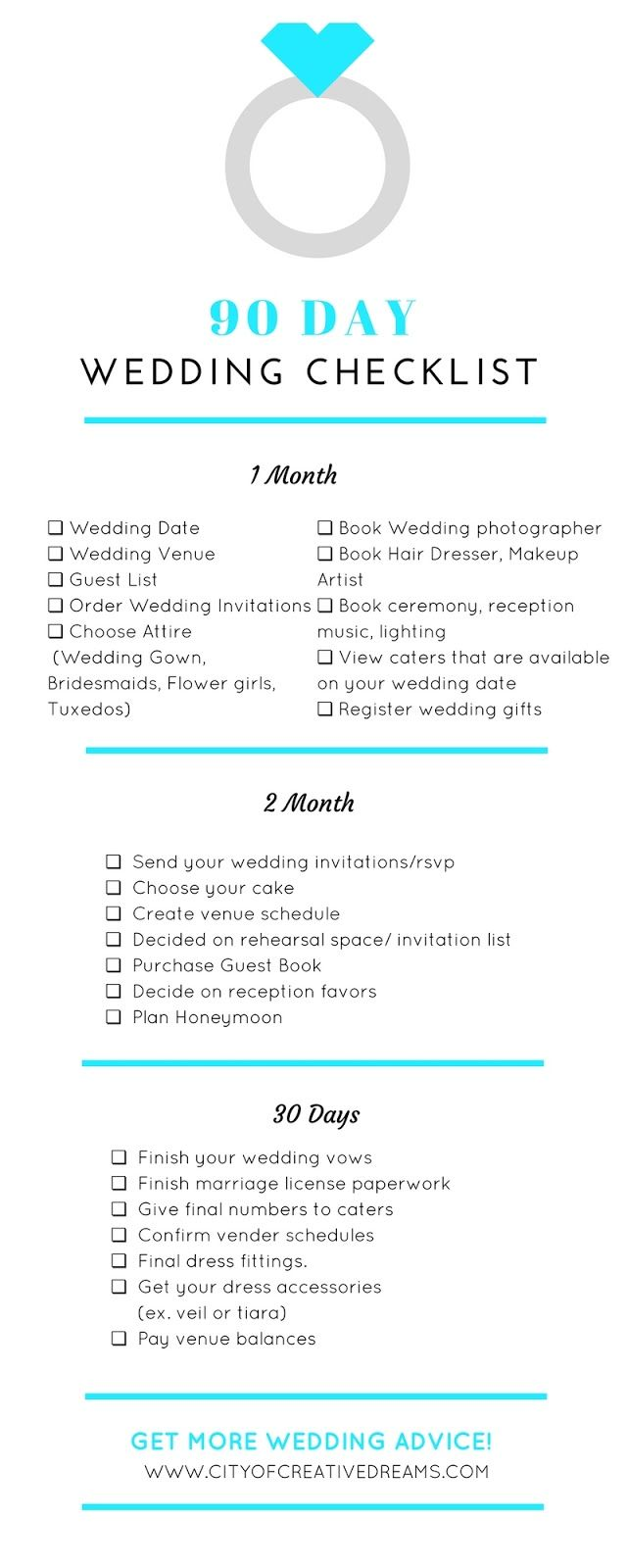 How to Plan A Wedding in 90 Days | City of Creative Dreams  #wedding #weddingplanning #weddingtips #weddingideas #weddinginspiration