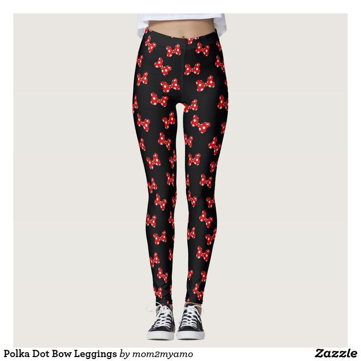 Polka Dot Bow Leggings