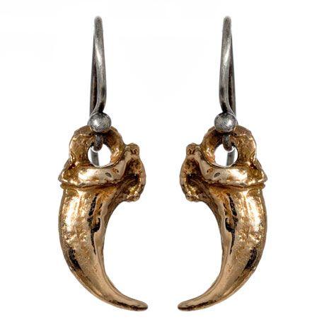 Fox claw earrings