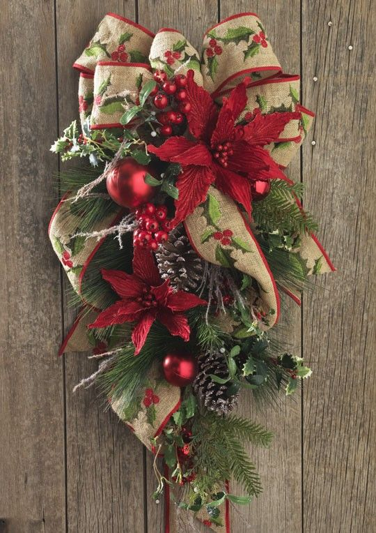 119 best swags garlands etc images on pinterest for Christmas swags and garlands to make