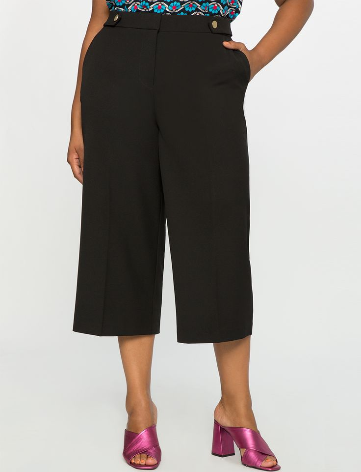 High-Waisted Culottes Black. 80 $