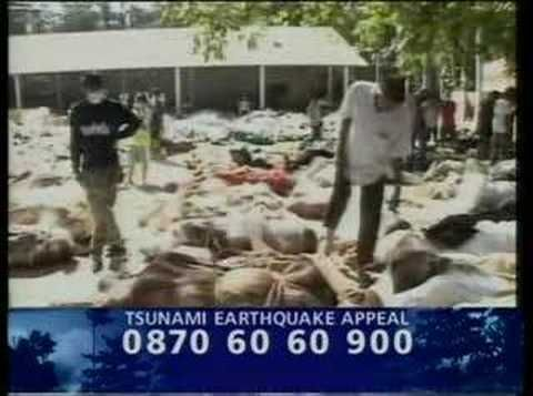 Tsunami Earthquake Appeal. The DEC Appeal raised 392 million pounds to help people in South Asia, South East Asia and Somalia after a series of tsunamis in December 2004 in which over 200,000 people lost their lives, and millions more lost their homes and livelihoods. Find out more about the appeal: http://www.dec.org.uk/appeals/tsunami-earthquake-appeal