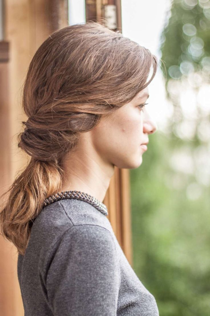 Casual hairstyle - inside out ponytail :: one1lady.com :: #hair #hairs #hairstyle #hairstyles