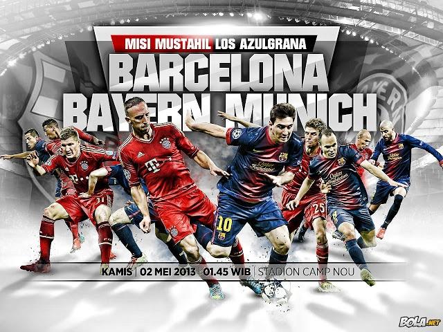 Kekalahan Barcelona di kandang Bayern Munich membuat perjuangan mereka menuju final di Wembley terasa berat. Meskipun bukan mustahil, namun membalikkan ketertinggalan 4 gol melawan tim sekelas Bayern adalah misi maha sulit.    Read more: http://amriawan.blogspot.com/2013/04/prediksi-semi-final-liga-champions-leg_30.html#ixzz2RuJgi9nG