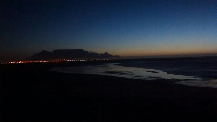 Sunset table view south Africa