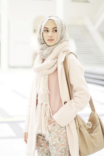 Hijab winter scarf