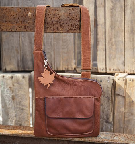 Front Pocket Satchel purse. Available in buffalo and a variety of deerskin colours. #leather #Canada #handmade #Rockwood #Ontario #like #daily #fashion #hidesinhand