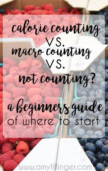 Calorie counting vs. macro counting. What should you do? A beginners guide of where to start on a healthy eating journey.