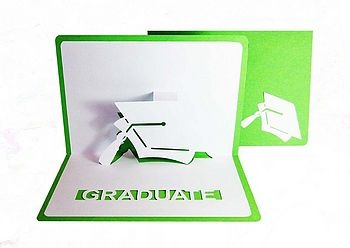 Origamic architecture pop up graduation card.