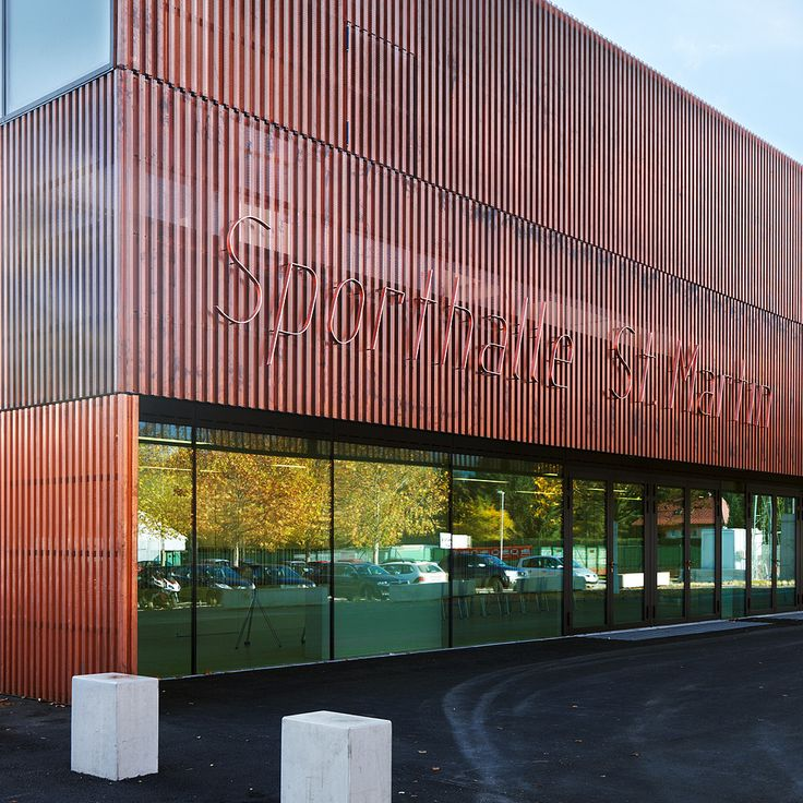 Finaliste/Shortlisted: Gymnase St. Martin, Villach, Autriche | Copperconcept.org #copper #cuivre #architecture #building #design