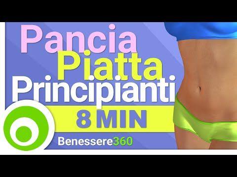 Pancia Piatta in 8 Minuti: Esercizi Addominali per Principianti - YouTube