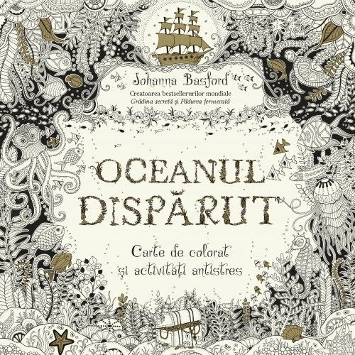 Oceanul dispărut - carte de colorat antistres