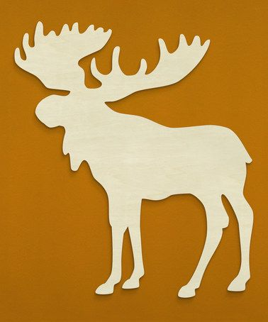 Loving this Unfinished Moose Silhouette Wall Art on #zulily! #zulilyfinds