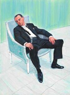 Charlie (Scheips) Sitting -David Hockney 2005