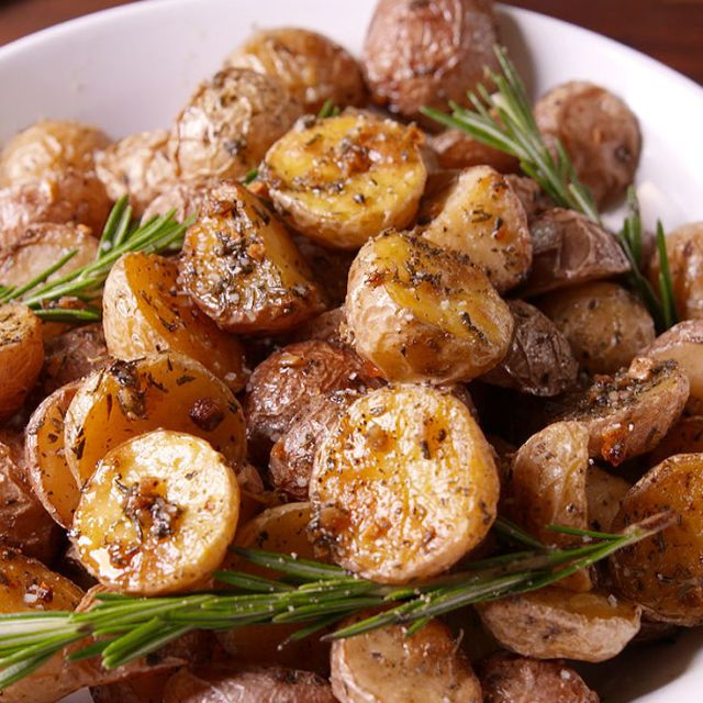 Rosemary Roasted Potatoes.  so easy and they look so yummy.