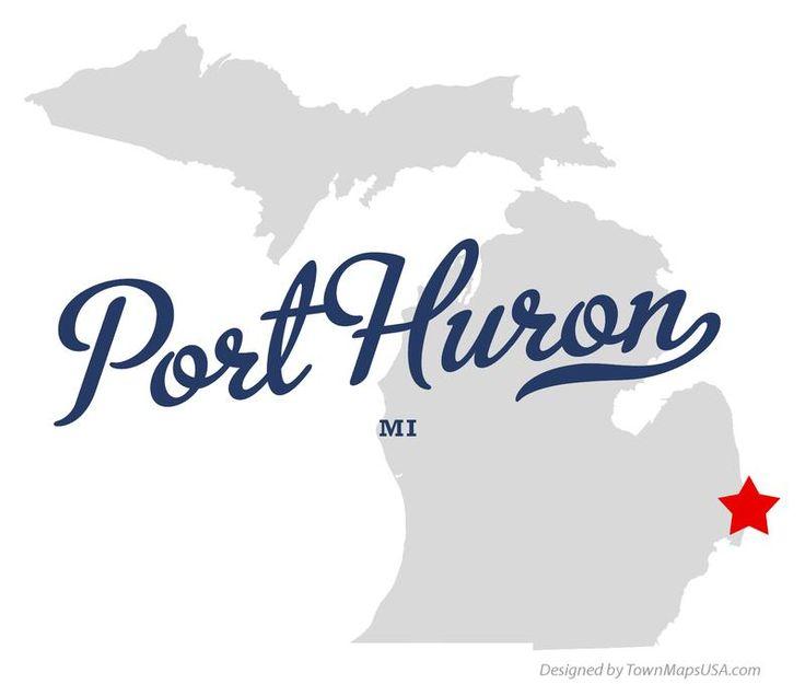 Port Huron Michigan Map