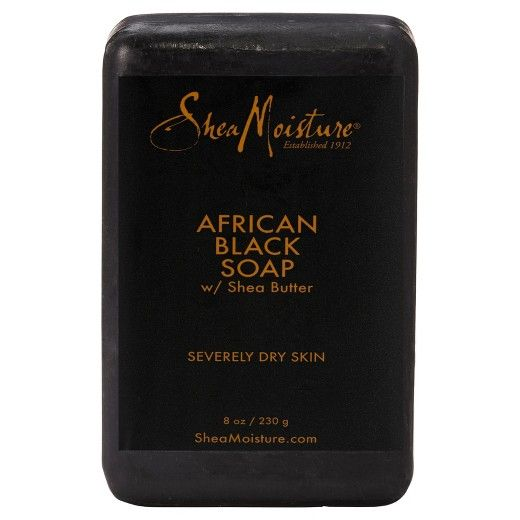 SheaMoisture's African Black Soap is specially formulated with organic Shea Butter, Oats and Aloe to cleanse, moisturize and comfort irritated skin while absorbing excess oil. African Black Soap, an honored beauty secret, made from palm ash, tamarind extract, tar and plantain peel, helps to calm and clear blemishes and troubled skin. Perfect for helping relieve symptoms of eczema or psoriasis. Leaves skin soft and refreshed. <br><br>• Made with natural and certified o...