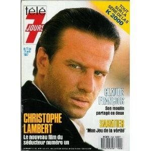 Christophe Lambert : Le nouveau film du séducteur numéro 1, dans Télé 7 jours (n°1402) du 11/04/1987 [couverture et article mis en vente par Presse-Mémoire]