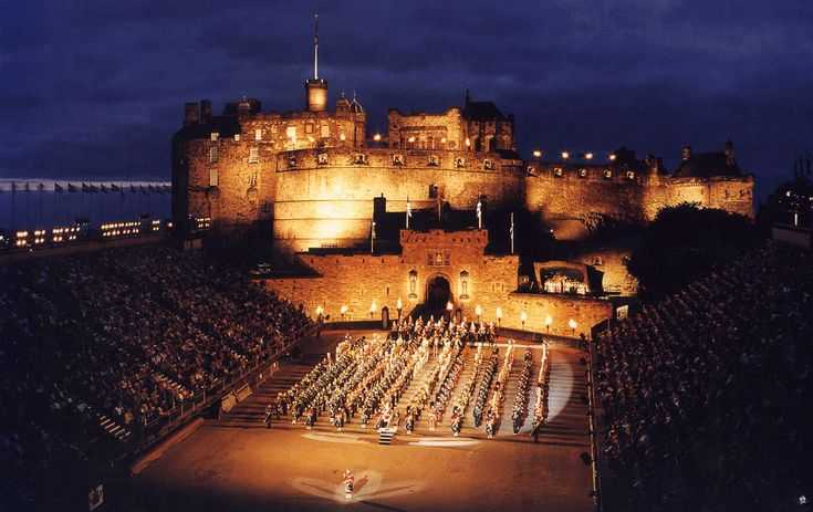Edinburgh Castle, a place where John and I went together when we first met, in Scotland