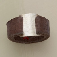 Cool leather ring.
