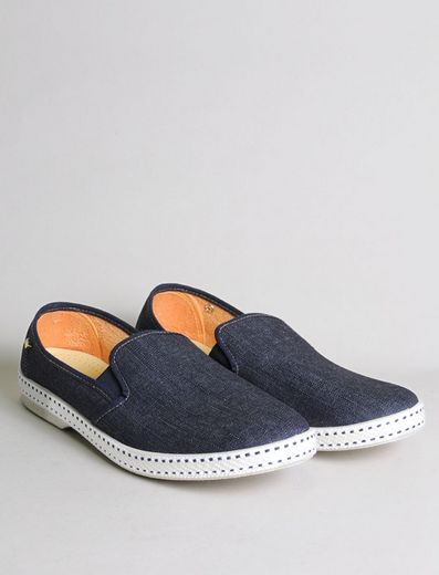 Rivieras Leisure Shoes Slip on Dark Blue Jeans M (for women) - 10% OFF