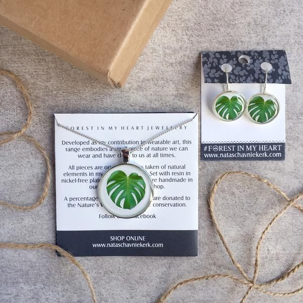 Pendant and Earrings Gift Box - Garden Heart