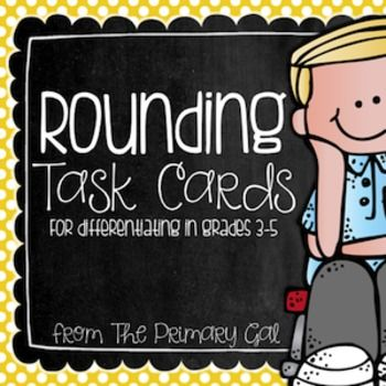 These rounding task cards are designed to allow students to practice rounding numbers at many levels. This packet includes six sets of twenty-four task cards in various levels. The six levels require students to: *Round to the nearest ten *Round to the nearest hundred *Round to the nearest thousand & hundred thousand *Round to the nearest whole numbers *Round to the nearest tenth *Round to the nearest hundredth