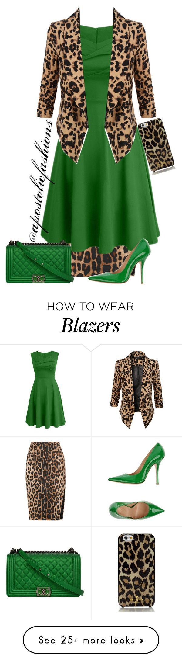 """Apostolic Fashions #944"" by apostolicfashions on Polyvore featuring Altuzarra, Chicnova Fashion, LE3NO, Fiorangelo, Kate Spade and Chanel"