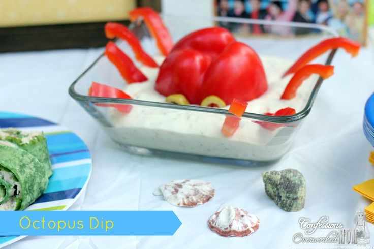 Octopus Dip. How to Have a Teen Beach Party #TeenBeachMovie #Disney #sponsored
