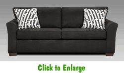 Sensations Black Sofa by Affordable at Furniture Warehouse | The $399 Sofa Store | Nashville, TN