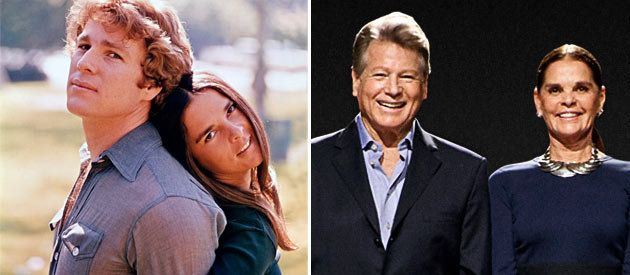 Love Story Couple: Ryan O'Neal and Ali MacGraw - Then & Now (Photo: Paramount Pictures/PTVImages.com)