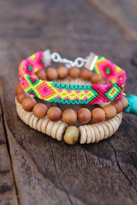 SANDALWOOD Friendship Tassel Boho Bracelet by WildPeopleFreeSpirit