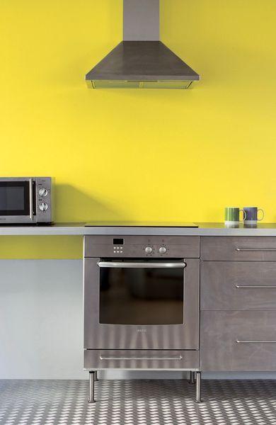 Du jaune éclatant pour une cuisine pétillante