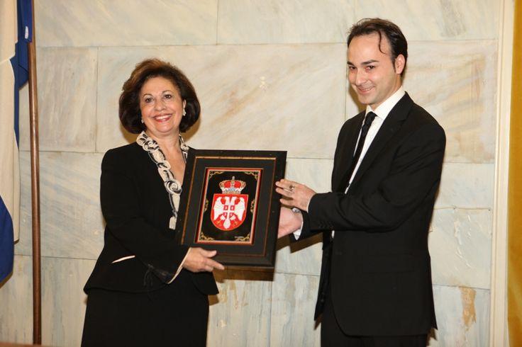 HRH Princess Catherine of Serbia with Ioannis Vlazakis