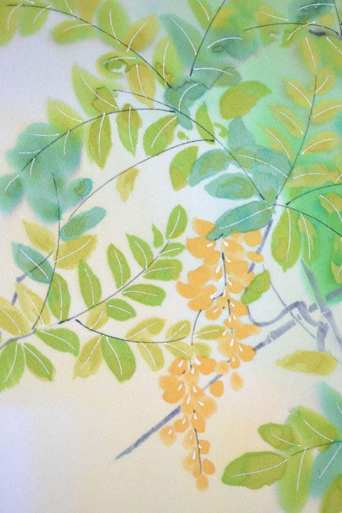VINTAGE SILK WEDDING FABRIC:Charming Spring Tree@615